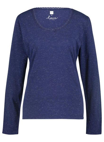 dames nacht t-shirt donkerblauw donkerblauw - 1000015497 - HEMA