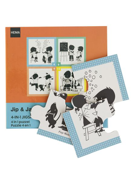 Jip en Janneke 4 in 1 puzzel - 15140020 - HEMA