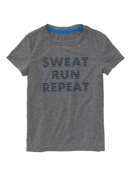 kinder t-shirt grijsmelange grijsmelange - 1000003670 - HEMA