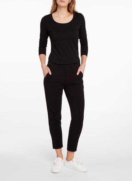 dames basic t-shirt zwart zwart - 1000005475 - HEMA