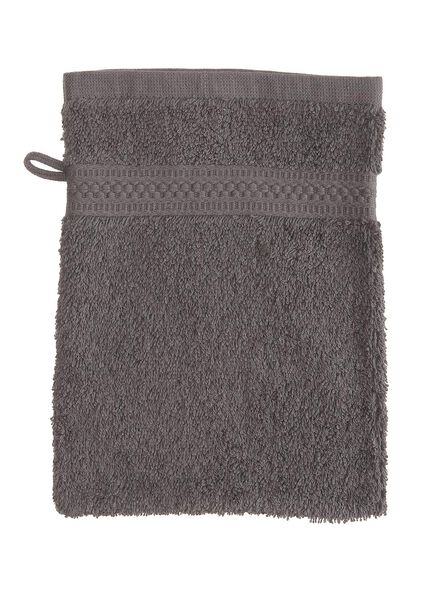 washand - zware kwaliteit - donkergrijs uni - 5232602 - HEMA