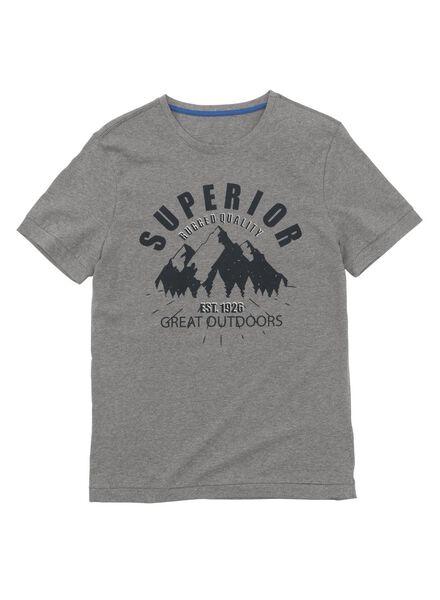 heren t-shirt grijsmelange grijsmelange - 1000009591 - HEMA