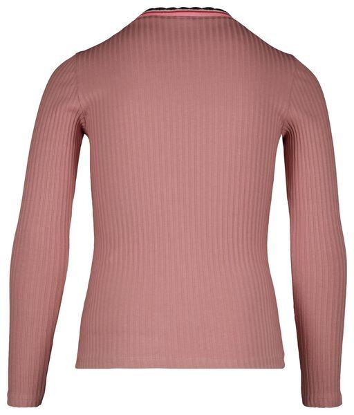 kinder t-shirt rib roze roze - 1000024961 - HEMA