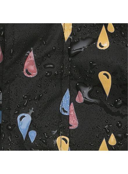 magic opvouwbare kinder regenjas met kleurverandering zwart zwart - 1000013168 - HEMA