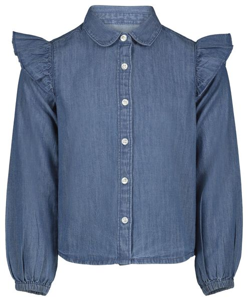 kinderblouse denim 146/152 - 30840479 - HEMA
