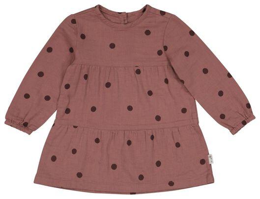 babyjurk stippen roze 62 - 33009241 - HEMA