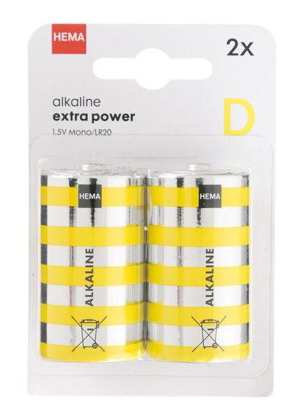 2-pak alkaline batterijen - 41290262 - HEMA
