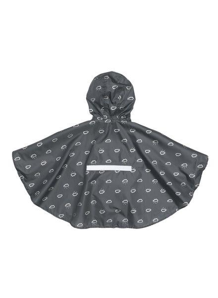 opvouwbare kinderponcho grijs grijs - 1000006272 - HEMA
