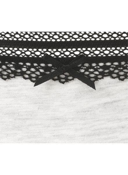 damesstring grijsmelange grijsmelange - 1000006537 - HEMA