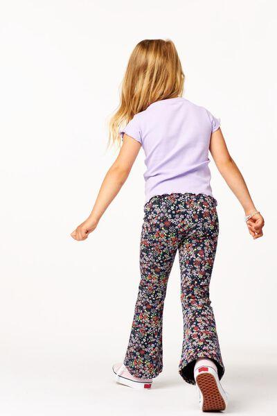 kinderlegging flared bloemen donkerblauw - 1000024409 - HEMA