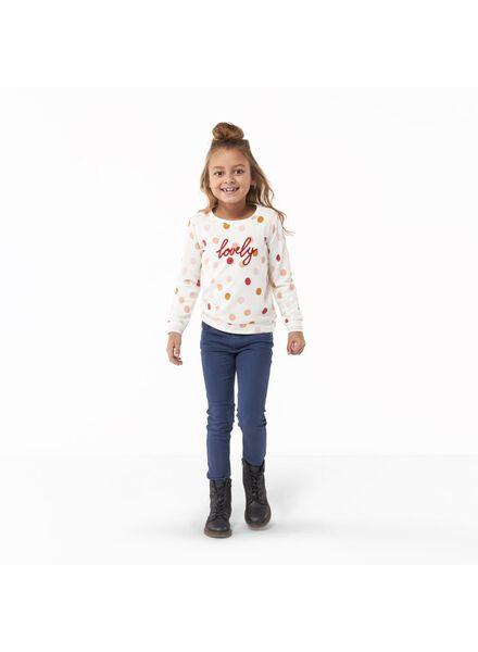 kinder jeans skinny fit donkerblauw 134 - 30853730 - HEMA