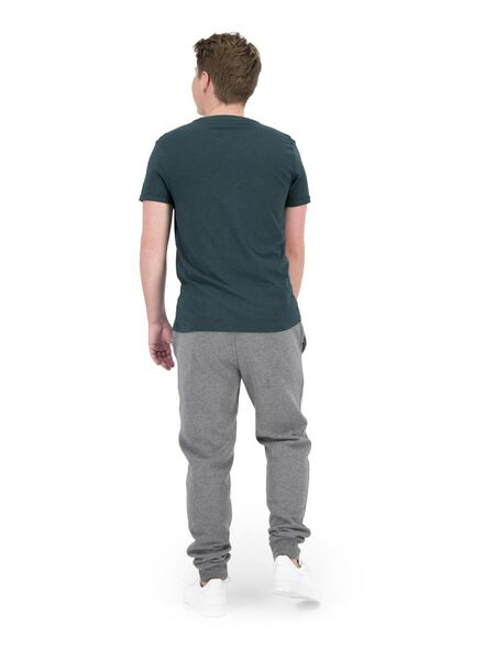 heren t-shirt slub groen groen - 1000014294 - HEMA