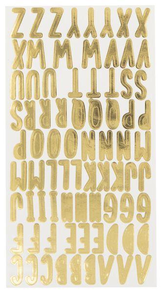 stickervel 19x10 alfabet - 4 stuks - 14126711 - HEMA