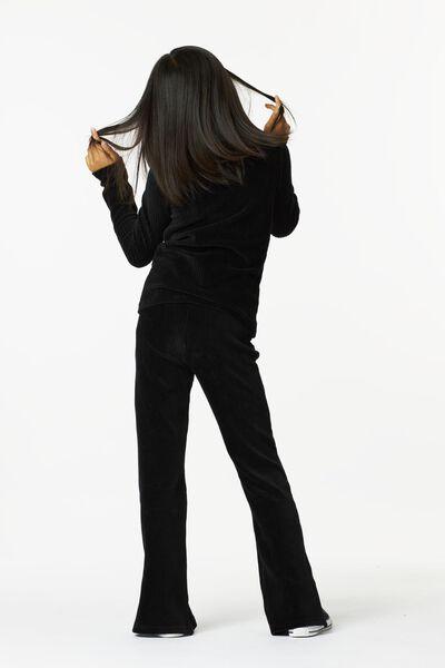 kinder top corduroy zwart zwart - 1000024993 - HEMA