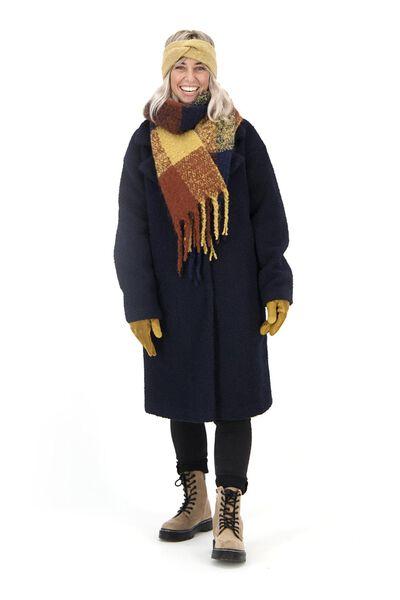damesjas teddy donkerblauw donkerblauw - 1000020769 - HEMA