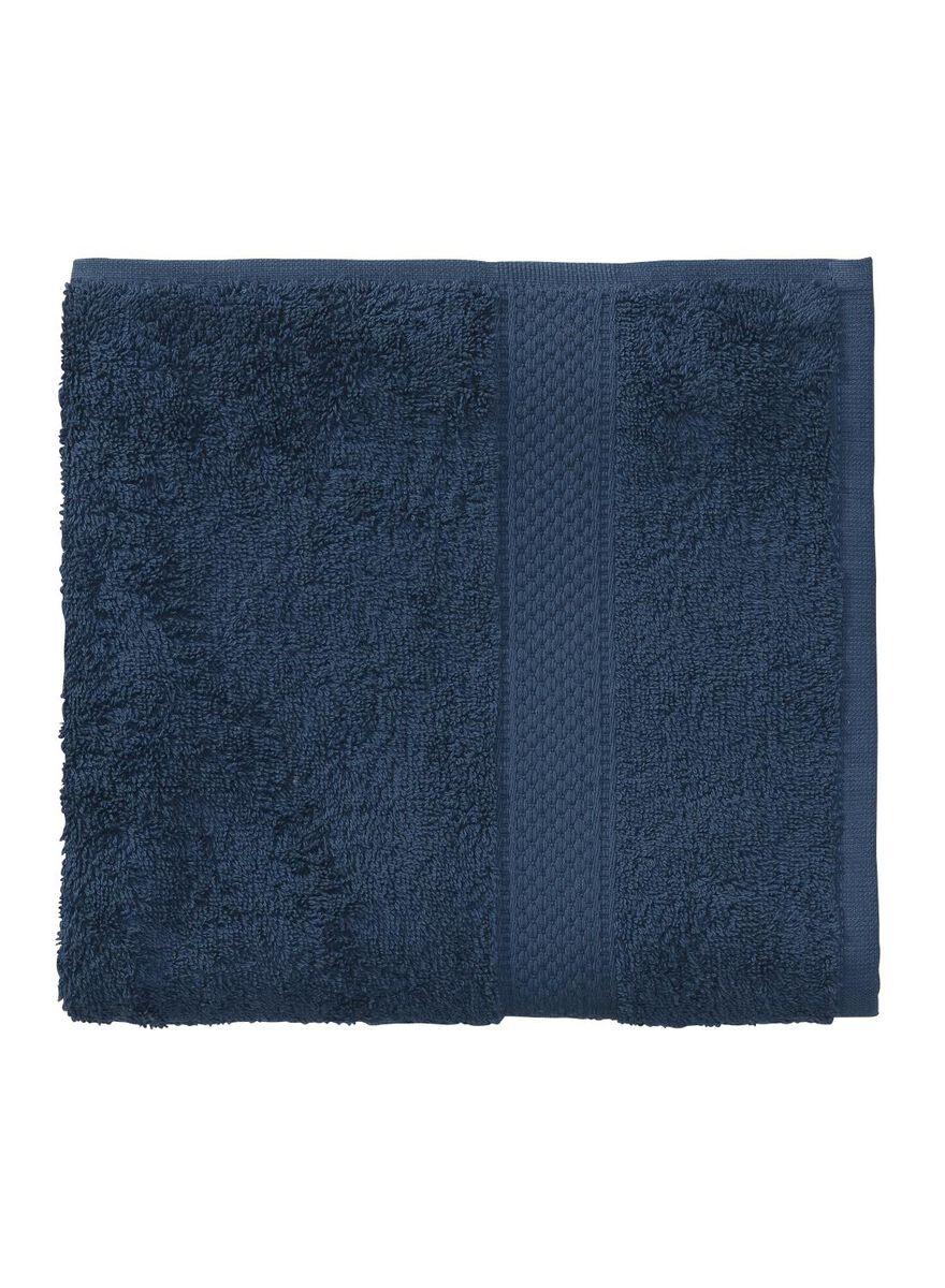 6 stuks. Handdoek - 50 x 100 cm - zware kwaliteit - denim uni
