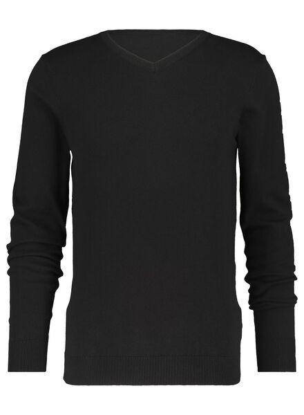 heren pullover zwart zwart - 1000016635 - HEMA