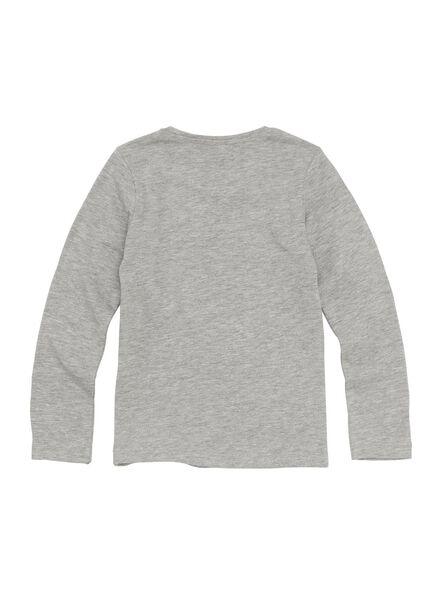 kindert-shirt grijsmelange grijsmelange - 1000010997 - HEMA