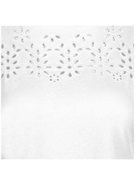 dames t-shirt gebroken wit gebroken wit - 1000014666 - HEMA