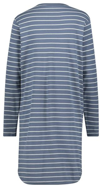 damesnachthemd strepen blauw M - 23400392 - HEMA