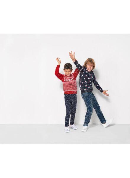 kinder kersttrui donkerblauw donkerblauw - 1000010547 - HEMA