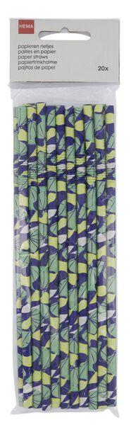 papieren rietjes bladeren - 20 stuks - 14200403 - HEMA