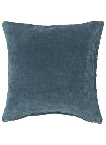 kussenhoes - 50 x 50 - blauwgroen velours - 7392039 - HEMA