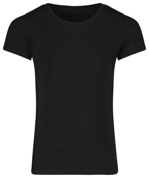 kinder t-shirt zwart 134/140 - 30843954 - HEMA