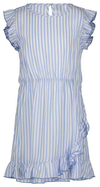 kinderjurk ruffel strepen blauw 158/164 - 30851654 - HEMA