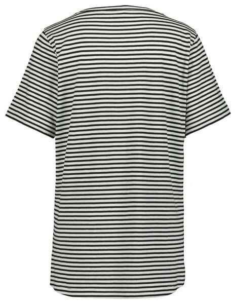 dames t-shirt streep multi S - 36218086 - HEMA