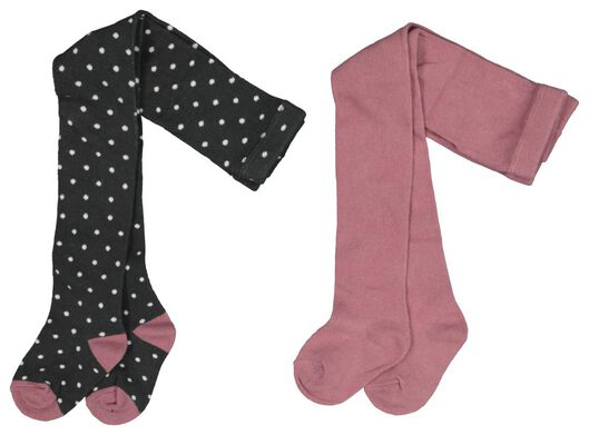 2-pak babymaillots roze 80 - 4723535 - HEMA