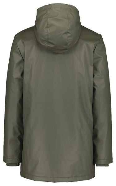 herenjas met capuchon legergroen legergroen - 1000020765 - HEMA