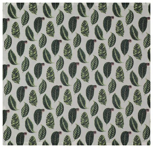 theedoek 65x65 blad groen - 5490032 - HEMA