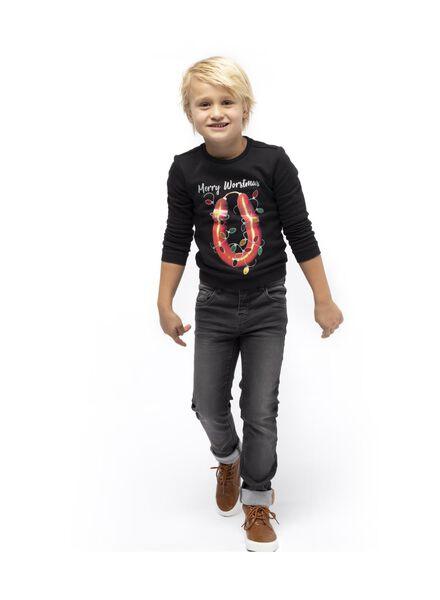 kindersweater donkerblauw donkerblauw - 1000016953 - HEMA