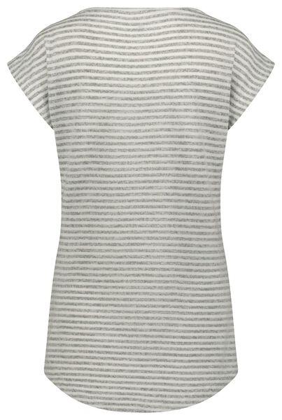 dames nachtshirt strepen grijsmelange grijsmelange - 1000022615 - HEMA