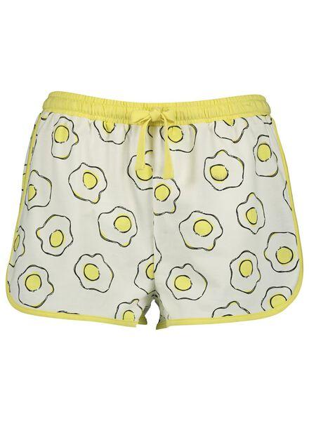 dames pyjamashort katoen geel geel - 1000014165 - HEMA