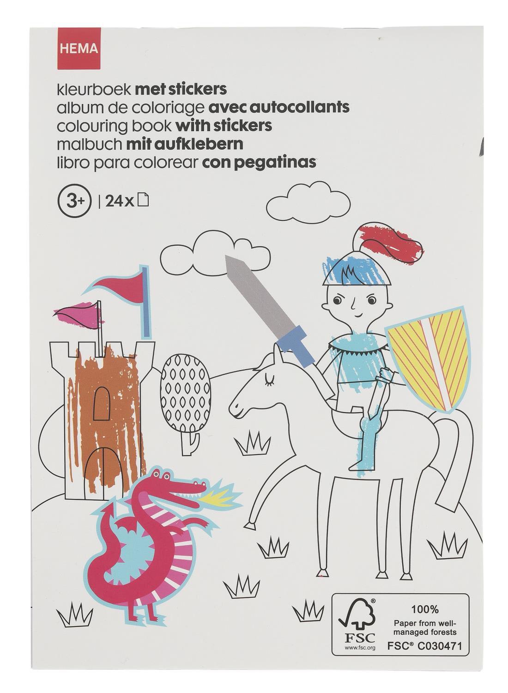 HEMA Kleurboek Ridder Met Stickers A5