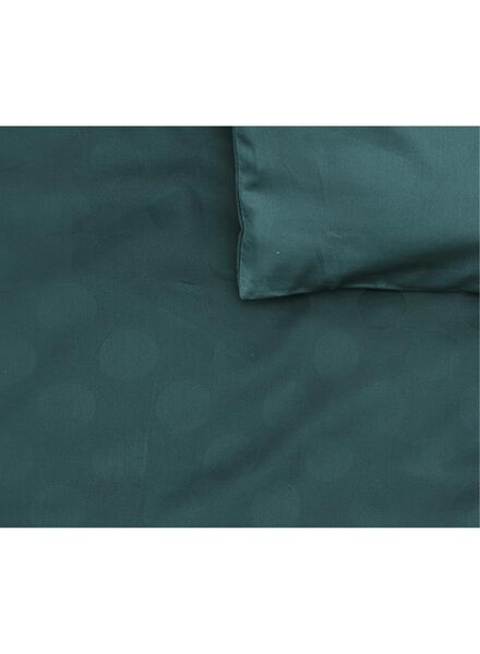 dekbedovertrek - hotel katoen satijn - 200 x 200 cm - groen stip - 5710048 - HEMA