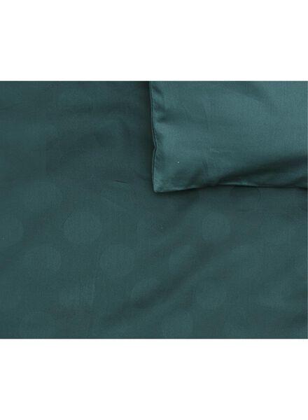 dekbedovertrek - hotel katoen satijn - 200 x 200 cm - groen stip donkergroen 200 x 200 - 5710048 - HEMA