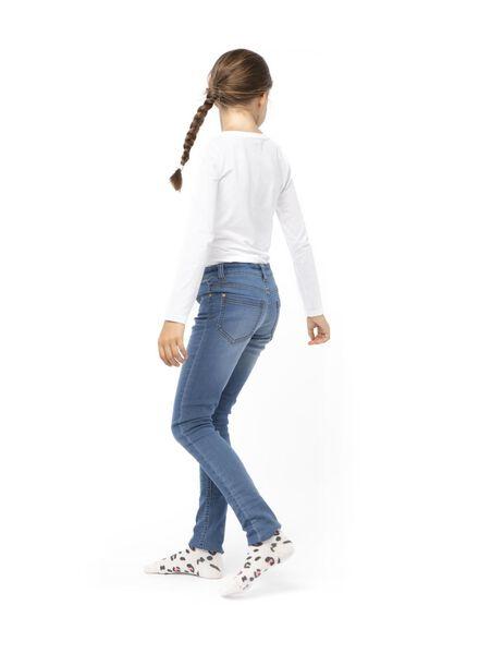 kinder jeans skinny fit middenblauw middenblauw - 1000013529 - HEMA