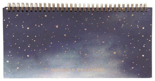 weekplanner spiraal 13x27 heelal - 14126689 - HEMA