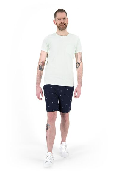 herenshort chino - regular fit blauw 32 - 34299681 - HEMA