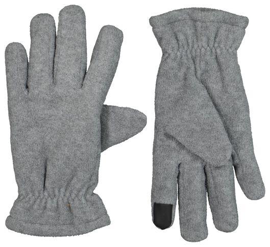 kinderhandschoenen met touchscreen fleece grijsmelange grijsmelange - 1000020793 - HEMA