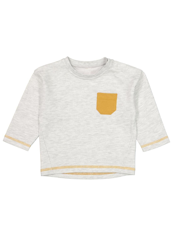 HEMA Babysweater Grijsmelange (grijsmelange)