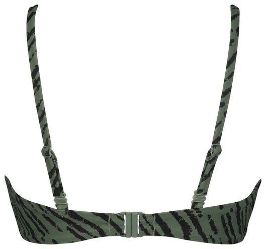 dames bikinitop zonder beugel - zebra legergroen XL - 22340884 - HEMA