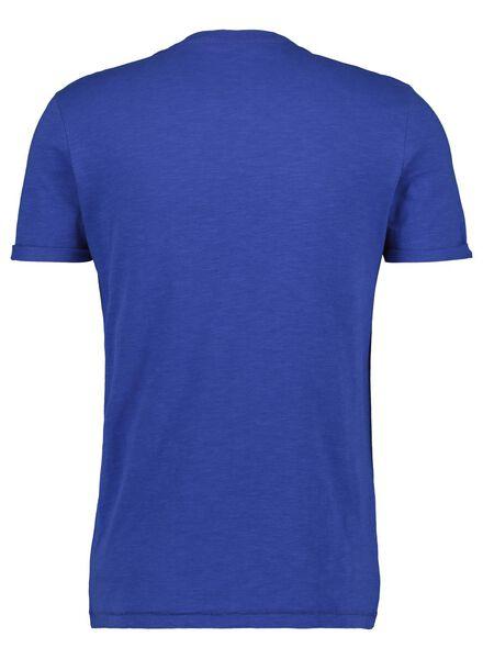 heren t-shirt blauw blauw - 1000014635 - HEMA