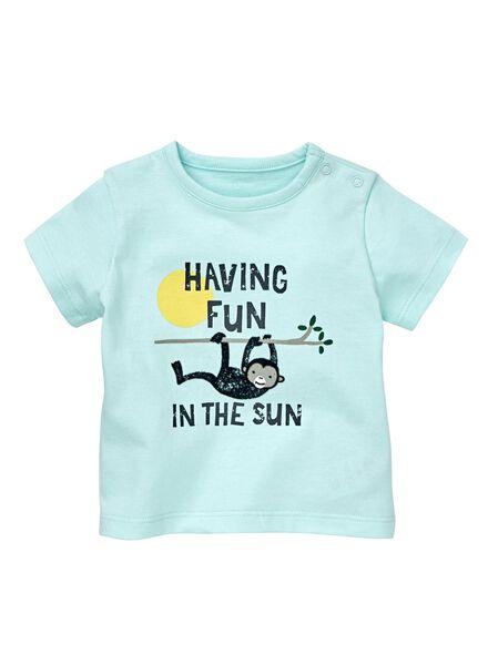 newborn t-shirt lichtblauw lichtblauw - 1000013031 - HEMA
