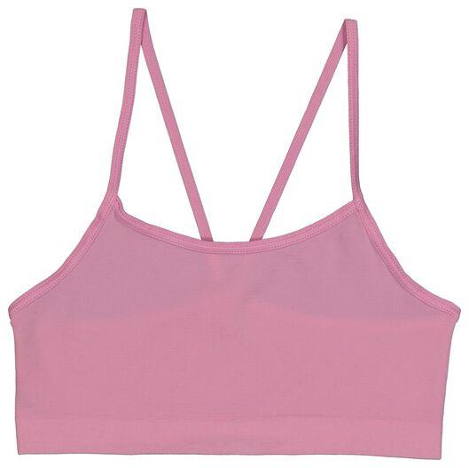 2-pak kinder soft tops roze 134/140 - 19330121 - HEMA