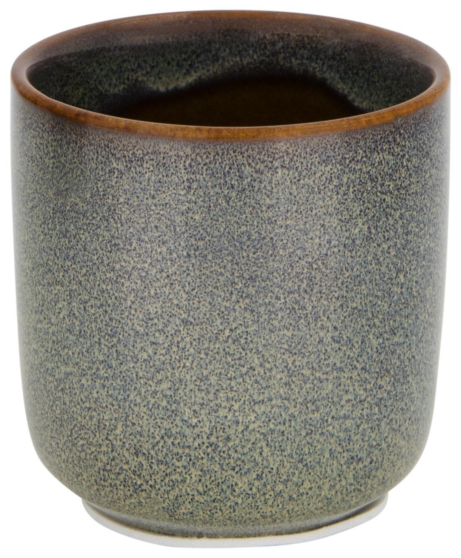 HEMA Bloempot Ø6.5x6.5 Reactief Glazuur Groen (grijs)