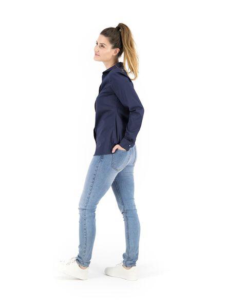damesblouse donkerblauw donkerblauw - 1000014861 - HEMA